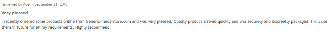 Review for Generic Meds Store