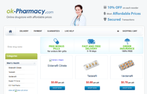 Ok-pharmacy Old Selling Version of the Website